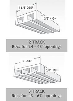 More Panel Glide track specs