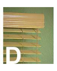 "Wood Blinds receive a ""D"" grade"