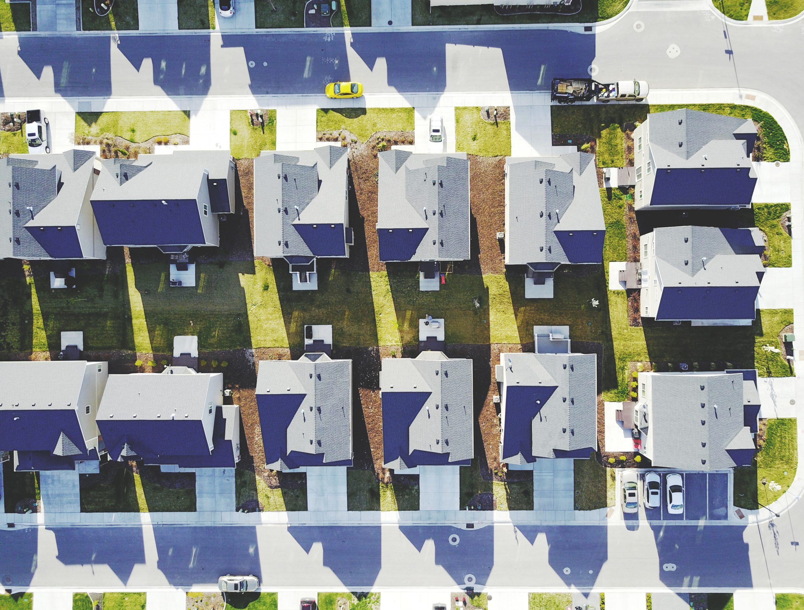 Suburban Filed of Houses